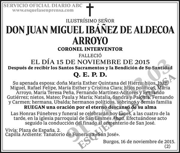Juan Miguel Ibánez de Aldecoa Arroyo